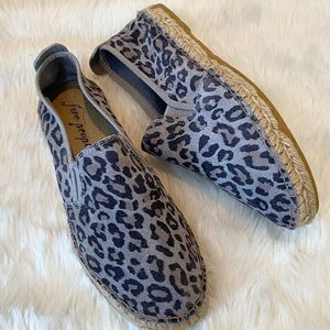 FREE PEOPLE Leopard Suede Espadrilles Flats